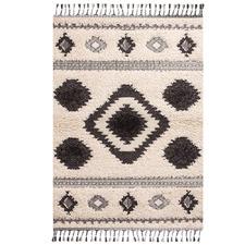 Cream Aztec Fez Rug