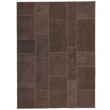 Chocolate Vico Patchwork Hand-Stitched Hemp Rug