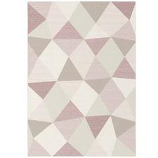 Pink Prisma Geometric Rug