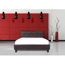 Italian Design New Chanel PU Leather Wooden Bed Frame