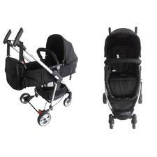 Limited 2 in 1 Aluminium Baby Stroller Pram Jogger with Bassinet