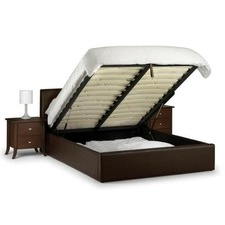 Italian Design New Gaslift Prada PU Leather Wooden Bed Frame