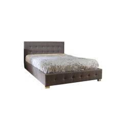 Summerville Gas Lift Grey Fabric Wooden Bed Frame