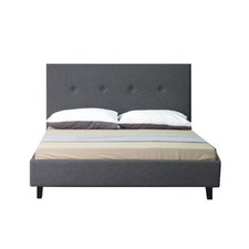 Grey Bayard Wooden Bed Frame