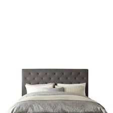 Oxford Grey Linen Wooden Bed Head