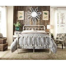 White Monaco Metal Bed Frame