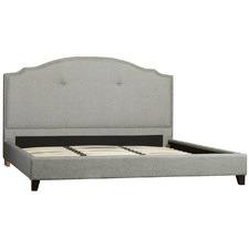 Grey Portland Linen Bed Frame