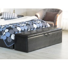 Chester Faux Leather Storage Ottoman