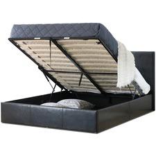 Naples Design PU Gas Lift Bed Frame
