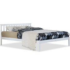White Medina Pine Wood Bed Frame
