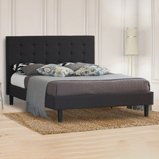 Charcoal Wiltshire Upholstered Bed Frame