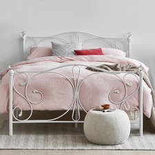 White Classic Sophie Metal Bed Frame
