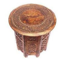 Izzy Hand Carved Mango Wood Table (Set of 2)
