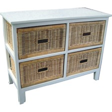 Brighton 4 Drawer Wide Cabinet