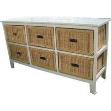 Brighton 6 Drawer Wide Cabinet