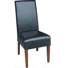 Neutral PU Dining Chair Honey Legs (Set of 2)