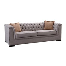 Madeline 3 Seater Natural Fabric Sofa