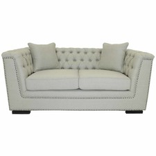Madeline 2 Seater Natural Fabric Sofa