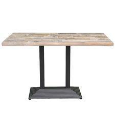 Light Oak Cafe Ceramic Outdoor Table
