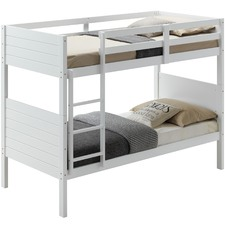 White Frankie Pine Wood Bunk Bed