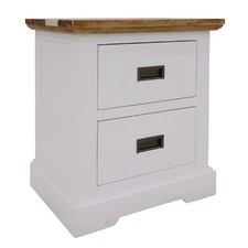 Dover Acacia Bedside Table with Drawers