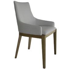 White Malibu Upholstered Dining Chair