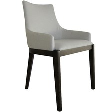 Off White Malibu Upholstered Dining Chair