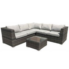 Grey Milford Modular Sofa & Coffee Table Set