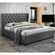 Grey Melrose Upholstered Queen Bed