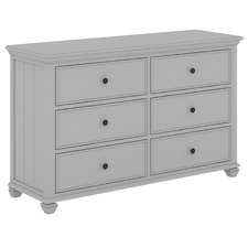 Grey Silvia Dresser with 6 Drawers
