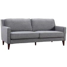 Grey Toulousse 3 Seater Upholstered Sofa