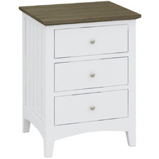 Brittany Bedside Table with 3 Drawers