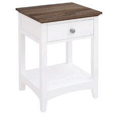 White Brittany Bedside Table