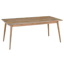 Light Timber Retro Wooden Dining Table