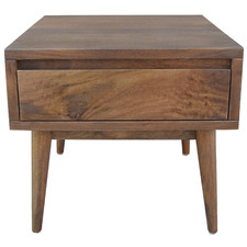 Dark Timber Retro Wooden Side Table
