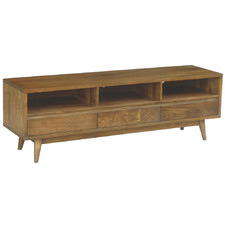 Dark Timber Retro Wooden TV Unit