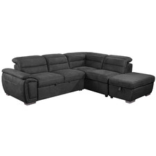 Cara Corner Sofa Bed with Ottoman