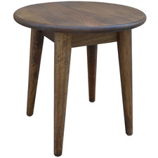Round Retro Wooden Side Table