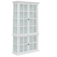 White Somerset 4 Door Display Cabinet