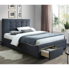 Grey Madison Bed with Storage