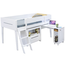 Kids' Hiram Wooden Single Bed with Desk & Storage