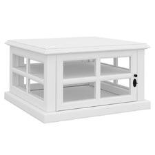 White Amara Acacia Wood Side Table
