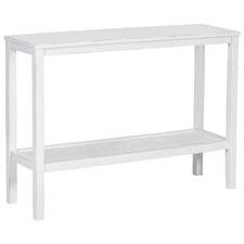 Findlay Mango Wood & Rattan Console Table