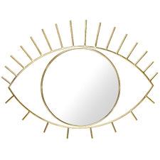 Gold Cyclops Eye-Shaped Wall Mirror