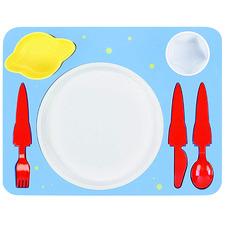 7 Piece Space Kids' Dinner Set