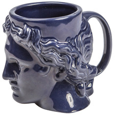 Blue Hestia 300ml Ceramic Mug