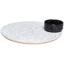 2 Piece Eclipse Rotating Platter & Bowl Set