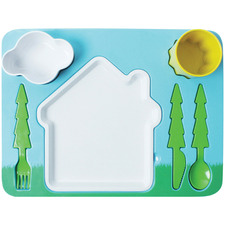 7 Piece Landscape Kids' Dinner Set