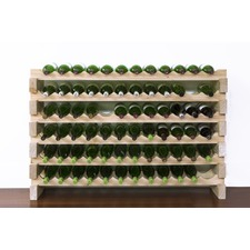 72 Bottle Wood Wine Rack