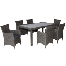 6 Seater Kiama Outdoor Dining Table & Chair Set